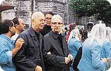Padre Amorth insieme a Padre Candido